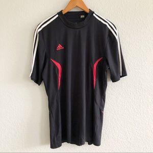 Adidas ClimaLite Predator Black Three Stripe Tee